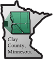 Minnesota Map Showing Clay County