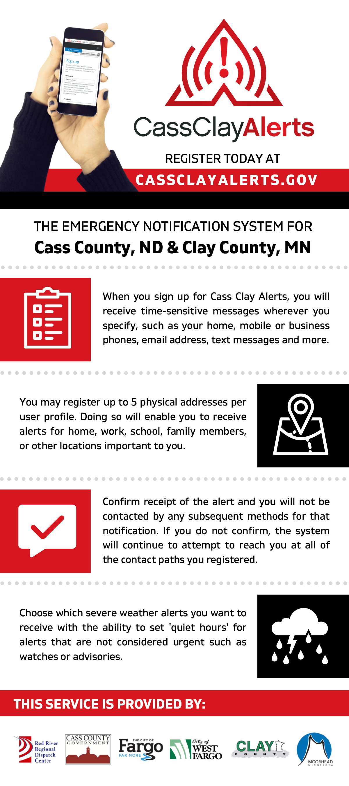 JURISDICTIONAL Rack Card Register Cass Clay Alerts